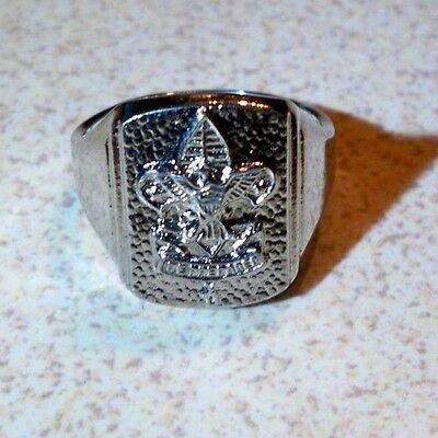 Vintage Sterling Silver Boy Scout Ring Size 6