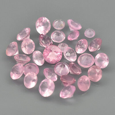 3.04 ct. 30 St. unbeh. Light Pink 1.7 - 3.0 mm Tansania Brillantschliff Spinelle
