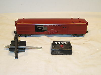 American Flyer 918 Operating Mail Pick Up Car With Pick Up Arm And Button Works