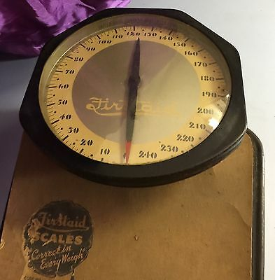 """Vintage  (Rexall) United Drug """"Firstaid"""" Bathroom Scale w/ Large Elevated Dial"""