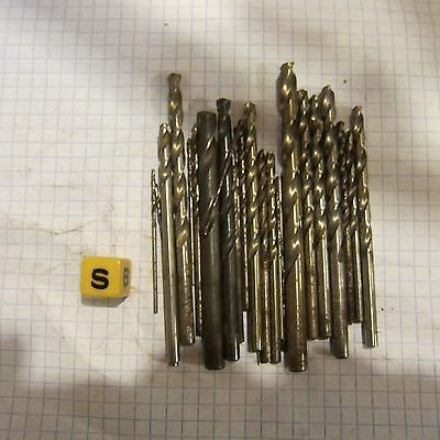 30  factory surplus mostly cobalt drill bits lot USUALLY PTD BRAND