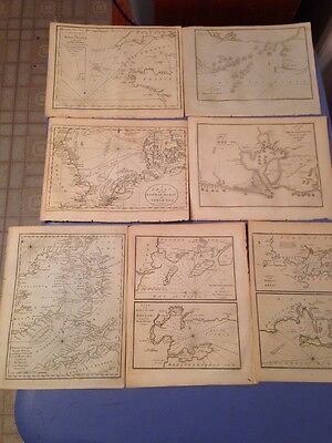 Lot Of 9 Antique J. Cary Maps 1801 Field Of Mars Antique Book