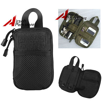Tactical MOLLE Passport ID Wallet Phone Pocket Pouch Tools Flashlight Phone Bag