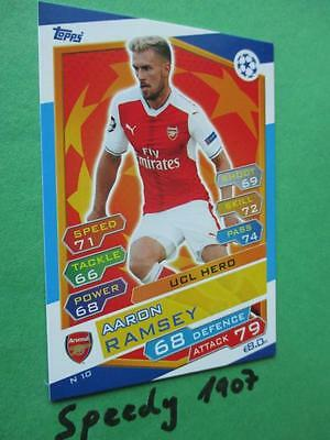 Topps Champions League 2016 17 UCL HERO Ramsey N10 Arsenal 2017 NORDIC EDITION
