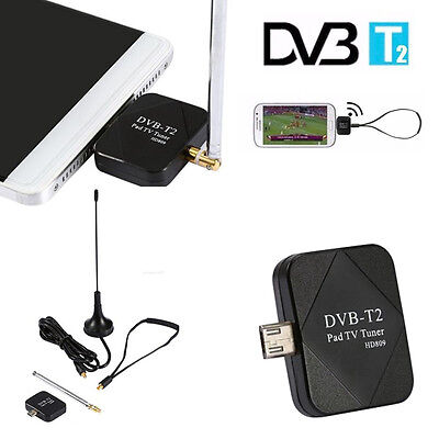 Android DVB-T DVB-T2 USB Dongle HD Digital TV Receiver Tune Antenna
