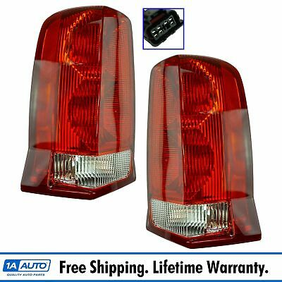Tail Lights Lamps Left LH & Right RH Pair Set for Cadillac Escalade SUV Truck
