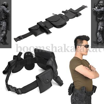 Tactical Nylon Security Guard Duty Belt Pouch Utility Kit Hunting Holster AU