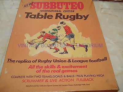 Subbuteo Rugby Set - International Edition -  Subbuteo Rugby - With Score Board