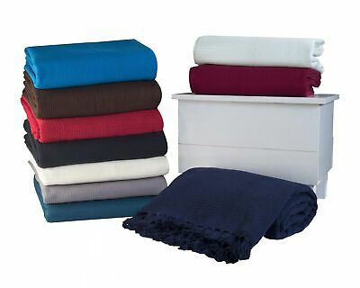 Luxury Gaint 100% Cotton Sofa Bed Throw-5 Sizes (Include Super Giant) & 7Colours
