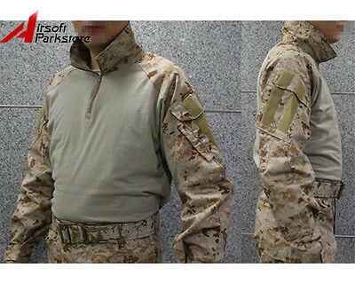 Camouflage Shirt Tactical Military US Army Combat Long Sleeve T-Shirt AOR1 Camo