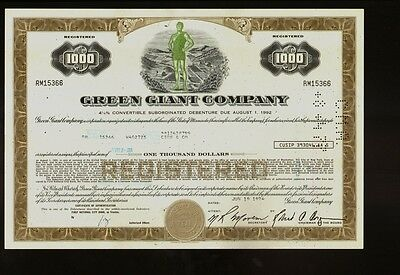 GREEN GIANT COMPANY ( Minnesota Valley Canning Company General Mills B& G Foods