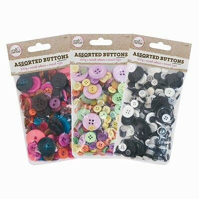 200 Quality Resin Random Mixed Buttons Craft Scrapbook Sewing Cardmaking Art