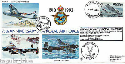 """1993 """"Royal Air Force"""" Bermuda illustrated flown First Day Cover"""