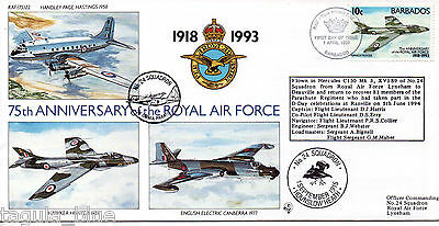 """1993 """"Royal Air Force"""" Barbados illustrated flown First Day Cover"""