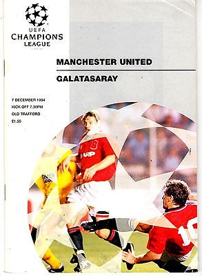 Manchester United v Galatasaray Champions League 7th December 1994
