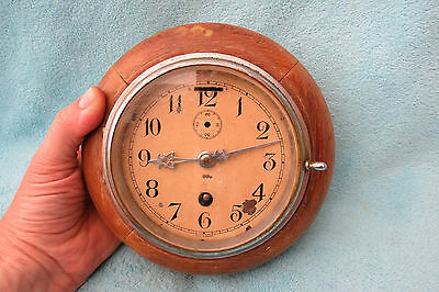 Vintage Coventry Astral Ship's Clock For Spares Or Repair