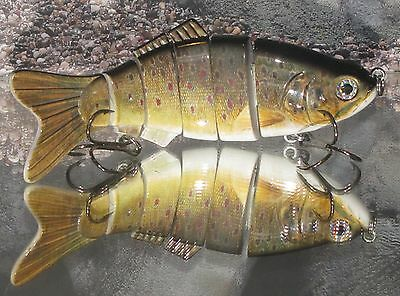 200mm / 127g   JOINTED SINKING  HARDBAIT LURE  BROWN TROUT COLOUR