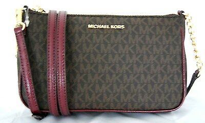Michael Kors Crossbody Fulton Neu SM Signature brown Bag Handtasche Tasche