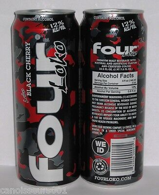 FOUR LOKO BLACK CHERRY 24 oz Beer Can Blowout #113