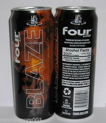 FOUR LOKO BLAZE 24 oz Beer Can Blowout #114