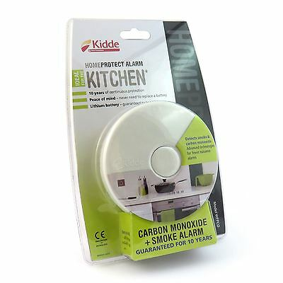 Kidde HomeProtect Kitchen Smoke Alarm + Carbon Monoxide Detector 10 Year Battery