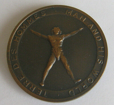 1967 WORLDS FAIR MEDAL Man and His World / Expo 67 - Montreal, Canada