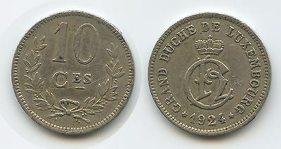 G7731 - Luxemburg 10 Centimes 1924 KM#34 Charlotte 1919-1964 Luxembourg