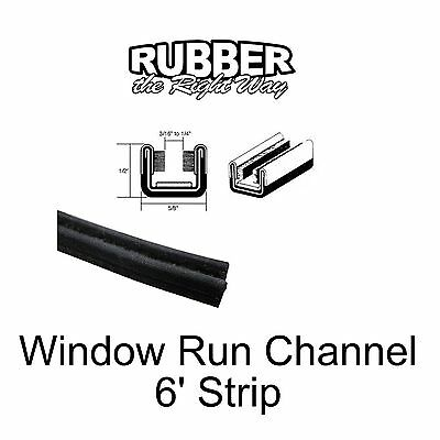 "Universal Window Run Channel - 1/2"" Tall X 5/8"" Wide X 6' Long - Flexible"