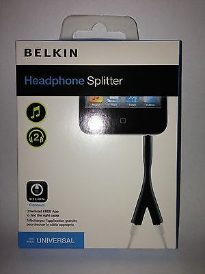 Belkin-Headphone-Splitter - AV10044TTP Brand New
