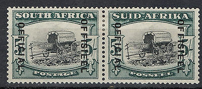 South Africa 5/- Official Pair Sg O28 Mounted Mint Cat £130+
