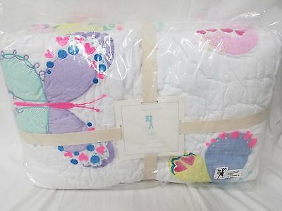 Pottery Barn Kids Lucy Butterfly Full/Queen Quilt & 2 shams