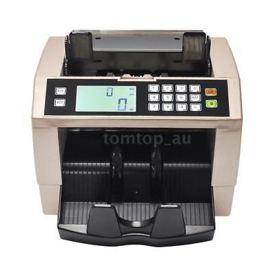 Cash Money Bill Counter Multi-Currency Count Machine Counterfeit Detector O6Z0