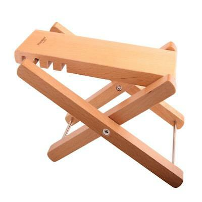 Guitar Guitarist Foot Stool Adjustable Rest Stand Wooden Guitar Accs Supply