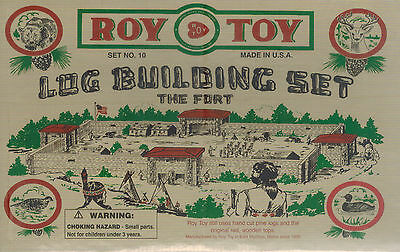 Roy Toy Log Building Set No. 10 The Fort NEW Sealed