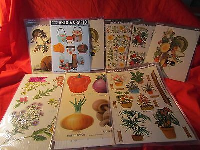 Lot of 9 sheets Vintage Meyercord Decals NEW