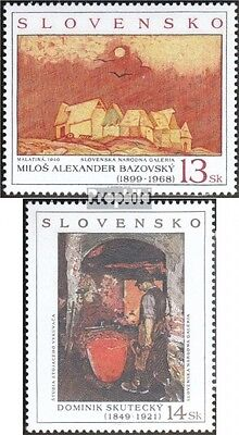Slovakia 352-353 (complete.issue.) unmounted mint / never hinged 1999 Paintings
