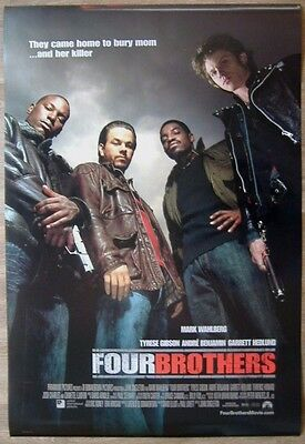 Four Brothers (2005) ORIGINAL D/S REG ONE-SHEET MOVIE POSTER,  Tyrese Gibson