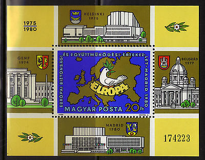 Hungary MNH 2666 S/S 1980 European Security Cooperation Conference