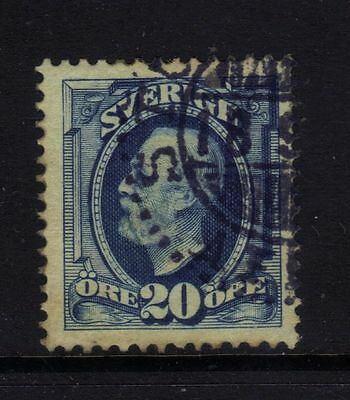 Sweden 75 VF Used 20-ore Oscar 1911 No Watermark $15