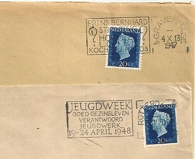 2 Covers  Pays Bas Netherlands Rotterdam Gravenhage To Sweden. L 495