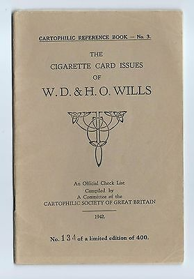 Cartophilic Reference Book No 3 Cigarette Card Issues Of Wd & Ho Wills