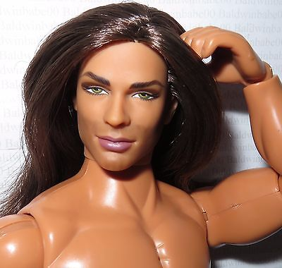 Nude Ken ~ Long Hair Jude Devereaux The Raider Buff Articulated Doll For Ooak