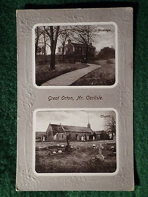 Cumbria. Great Orton. Views of Church and Vicarage. 1911. Near Carlisle.