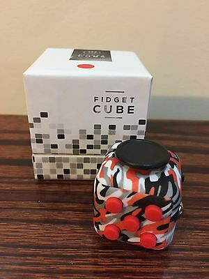 NY In Stock Fidget Cube For Anxiety Stress Relief Focus Toys Mix Red Camoflage
