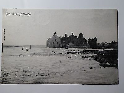Cumbria. A Storm at Allonby. 1905. Foster's Series. Near Carlisle and Silloth