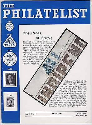 THE PHILATELIST March 1966 - CROSS OF SAVOY/BAHAMAS/BOOK REVIEWS/SALE ROOM INFO
