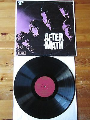 LP - ROLLING STONES - AFTERMATH DECCA weinrot, ovales DECCA-Label ffrr-OHR