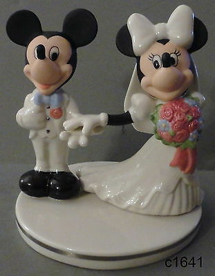 """Lenox Disney Mickey and Minnie Mouse Cake Topper 5.25"""" Figurine NEW in box"""