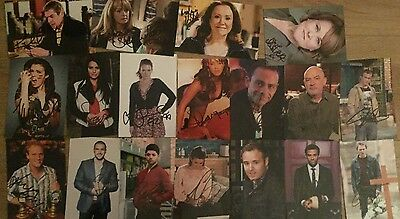 *signed* Job Lot Of 18 Coronation Street 6X4 Photos - Autograph Clearout Sale