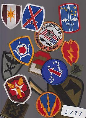 Lot Of 15  Military Army (Ww2?) Patches (S277)